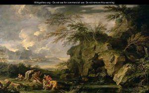 Salvator-Rosa,-Ritrovamento-di-Mosä,-1660-ca.,-Detroit,-Institute-of-Arts---Public-Domain-via-Wikigallery