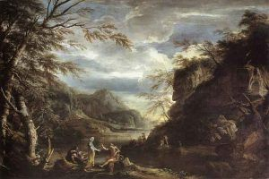 Salvator-Rosa---River-Landscape-with-Apollo-and-the-Cumean-Sibyl,-1655---Public-Domain-via-Wikipedia-Commons