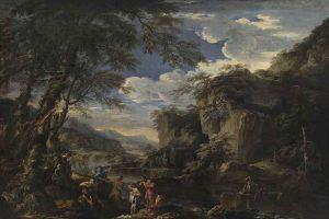 Salvator-Rosa,-Saint-John-the-Baptist-Baptizing-Christ-in-the-Jordan,-1655---Public-Domain-via-Wikipedia-Commons