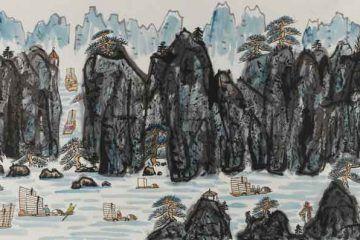 51.-Fang-Zhaolin,-Paesaggio-a-mano-libera,-1980,-inchiostro-e-colore-su-carta-di-riso,-cm-123x248
