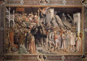 Agnolo Gaddi - Il trionfo della Croce (particolare) - affresco - 1380-1390 - Cappella Maggiore - Basilica Santa Croce, Firenze - Public Domain via Wikipedia