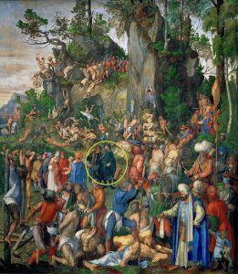 Albrecht DÅrer, Martirio dei diecimila, 1508, Kunsthistorisches Museum, Vienna
