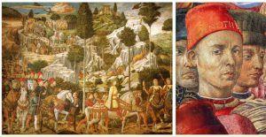 Benozzo Gozzoli, Cavalcata dei Magi, 1459-62, Palazzo Medici Riccardi, Firenze.