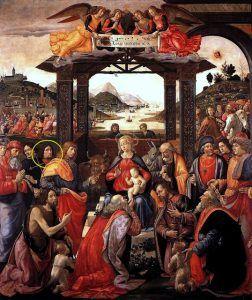 Domenico Bigordi detto il Ghirlandaio, Adorazione dei Magi, 1488 ca, Galleria dello Spedale degli Innocenti, Firenze