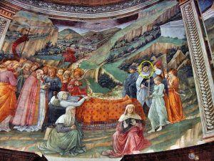 Filippo Lippi, Morte della Vergine, 1466-69, cattedrale di Santa Maria Assunta a Spoleto.