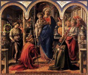 Filippo Lippi, Pala Barbadori, 1438, Louvre, Paris - Public Domain via Wikipedia Commons