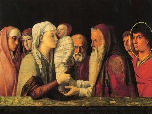 Giovanni Bellini, Presentazione di Gesó al Tempio, particolare, 1470 circa, Venezia, Fondazione Querini Stampalia