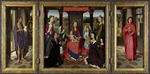 Hans Memling, Trittico Donne, 1475 ca., National Gallery, Londra.