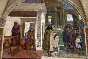 Il Sodoma, Da Storie di san Benedetto, 1505 ca., Abbazia di Monte Oliveto Maggiore, Asciano