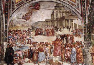 Luca Signorelli, Predica e fatti dell'Anticristo, 1500-02, Cappella di San Brizio (Cappella Nuova), Duomo di Orvieto