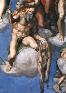 Michelangelo, particolare del Giudizio Universale, 1536-41 (CittÖ del Vaticano, Cappella Sistina)
