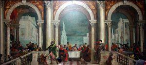 Paolo Veronese, Cena a casa di Levi, 1573, Gallerie dell'Accademia, Venezia