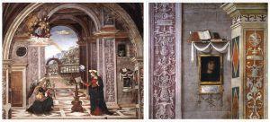 Pinturicchio, Annunciazione, Cappella Baglioni, Collegiata di Santa Maria Maggiore, Spello