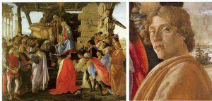 Sandro Botticelli, Adorazione dei Magi, 1475 ca., Galleria degli Uffizi, Firenze – Public Domain via Wikipedia Commons