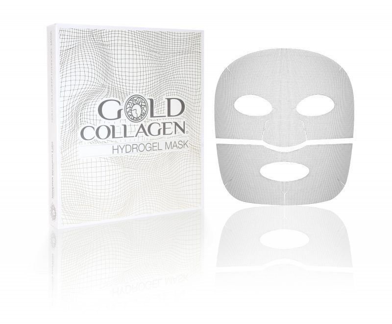 maschera usa e getta gold collagen