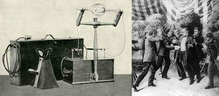La macchina a raggi X esposta a Buffalo nel 1901; l'assassinio del presidente William McKinley.