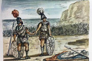 Iliade; episodi illustrati da Giorgio de Chirico con traduzione di Salvatore Quasimodo; 1968 - Kasa dei Libri