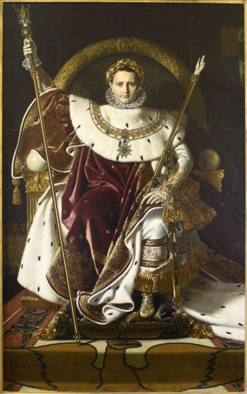Ingres Jean-Auguste-Dominique (1780-1867) - Napoleone sul trono imperiale, 1806 - Olio su tela 260 x 163 cm - © Paris - Musée de l'Armée, Dist. RMN-Grand Palais / Emilie Cambier.