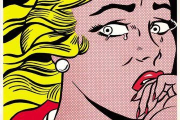 Roy Lichtenstein, Crying Girl, 1963, Litografia offset su carte leggera biancastra liscia, 45.8 x 61 cm. Collezione privata, Courtesy Sonnabend Gallery, New York - ©Estate of Roy Lichtenstein