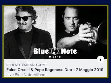 Folco Orselli e Pepe Ragonese live al Blue Note di Milano