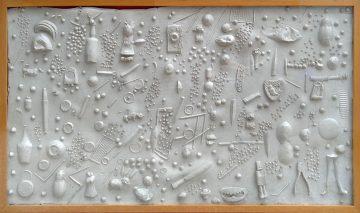 Remo Bianco, Impronta, 1964, Gomma, cm 68 x 107,7, Collezione Privata