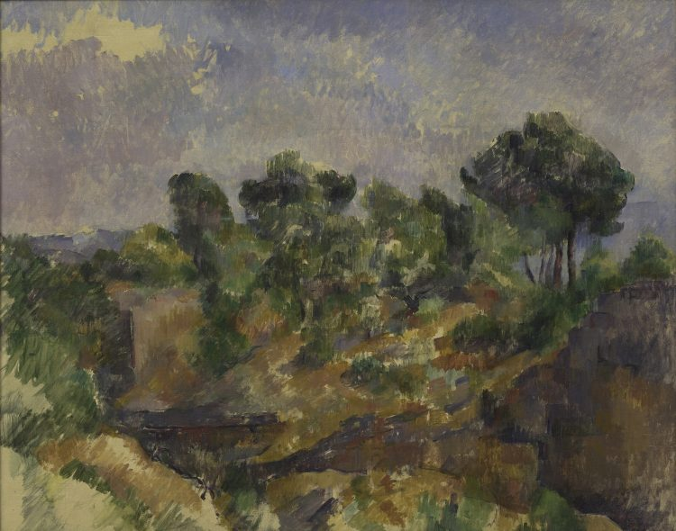 Paul Cézanne Bibémus, ca. 1894–95 Olio su tela, 71,5 x 89,8 cm, Solomon R. Guggenheim Museum, New York, Thannhauser Collection, Gift, Justin K. Thannhauser 78.2514.6 © Solomon R. Guggenheim Foundation, New York (SRGF)