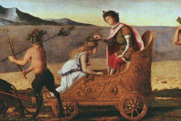 Nozze di Bacco e Arianna, di Cima da Conegliano; 1505 ca., olio su tavola, 28×69 cm; Museo Poldi Pezzoli - [Public domain, via Wikimedia Commons]