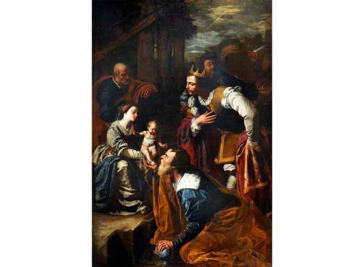 """""""Adorazione dei Magi"""" di Artemisia Gentileschi, basilica di san Procolo Martire (Pozzuoli)"""