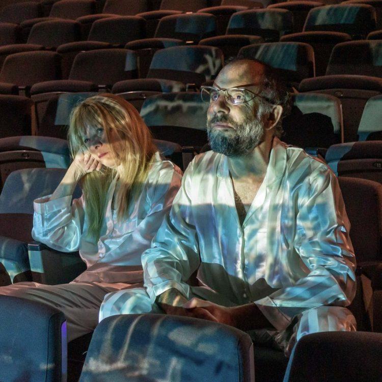 """Sleepless"" di Caryl Churchill al Teatro Out Off; regia Lorenzo Loris. Nella foto: Elena Callegari e Mario Sala - Photo by Davide Pinardi."